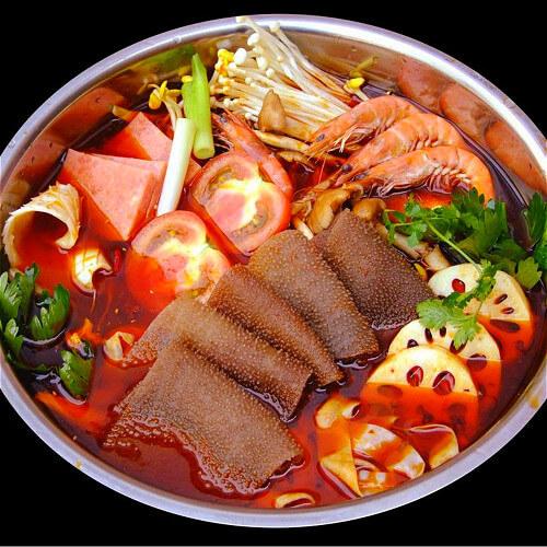 好吃的贵州风味豆米火锅