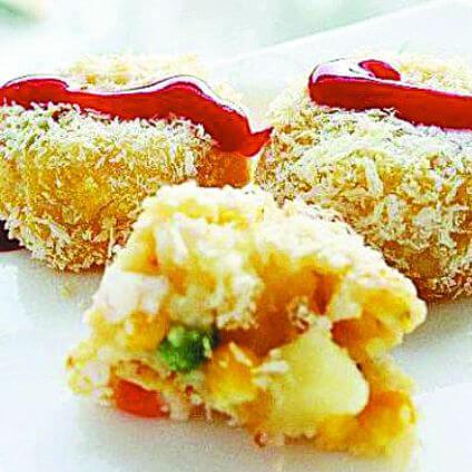 【DIY】玉米虾仁可乐饼
