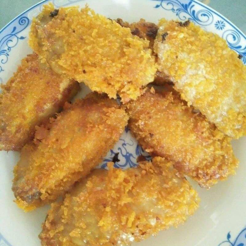 油炸面包康鸡翅中