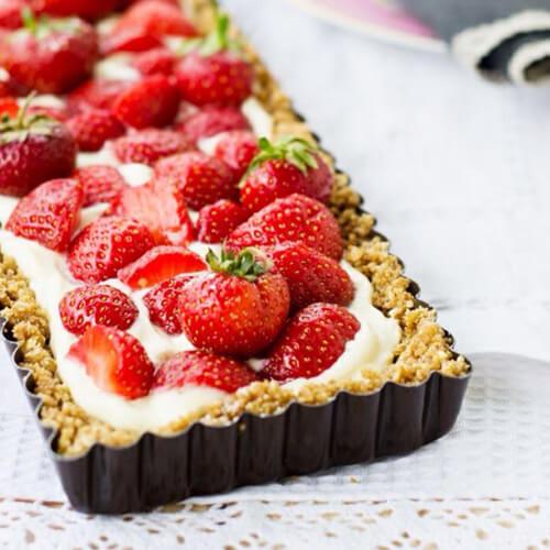 美式酥脆草莓派