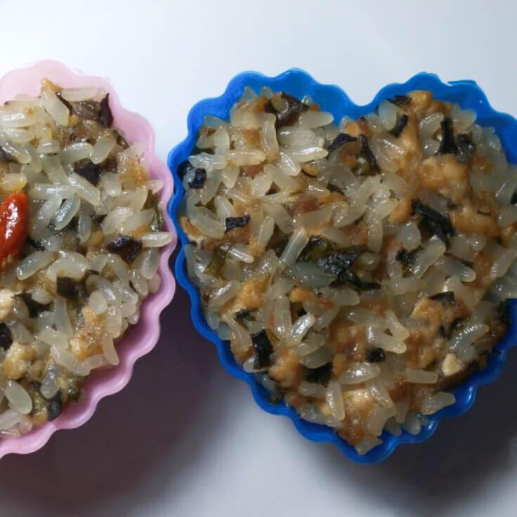 肉末木耳豆腐糯米饭团