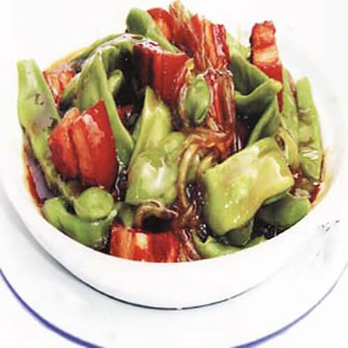 红烧油豆角