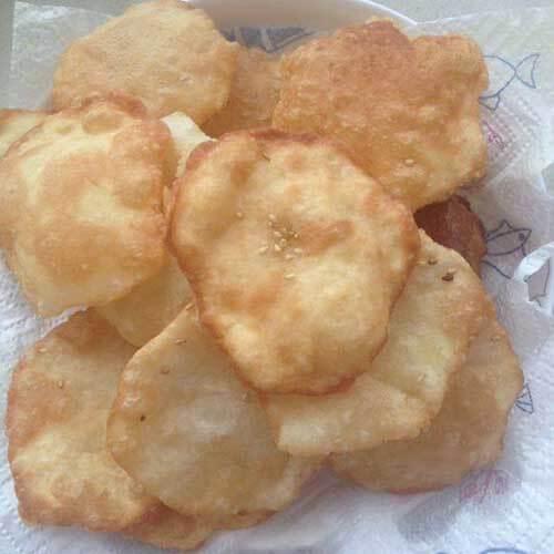 美味可口的芝麻薄香小糖饼