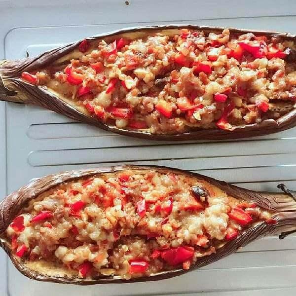 西红柿烤茄子