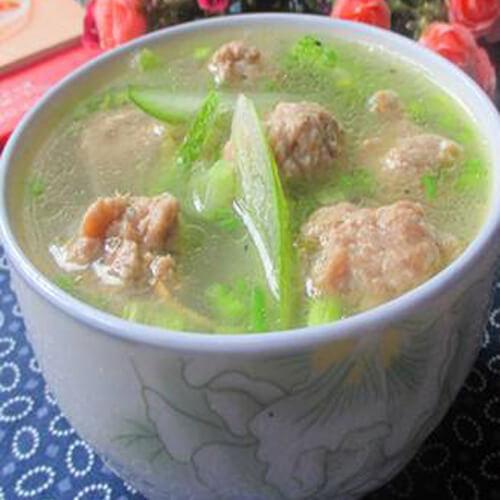 青瓜肉末汤