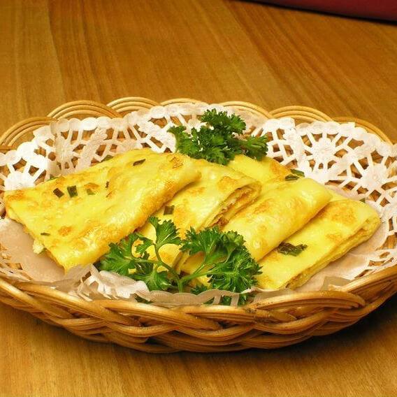 韩式鸡蛋菜饼