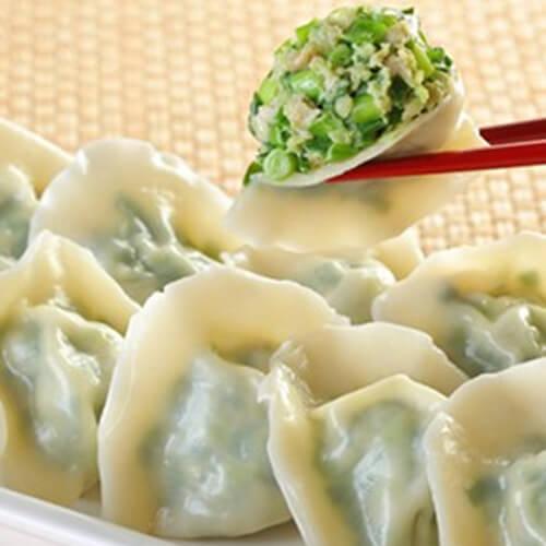 榨菜豆腐韭菜水饺