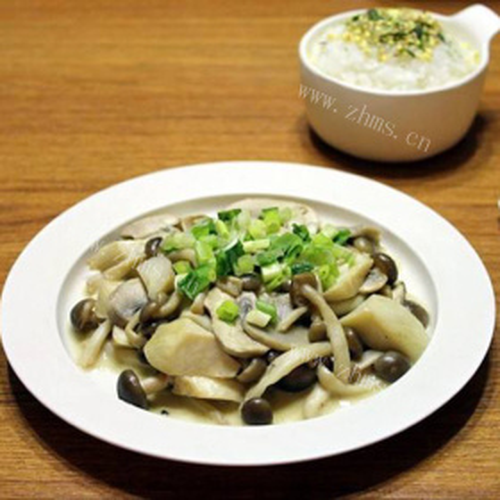 咸菜炒口蘑