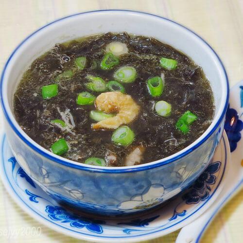 好喝的河虾紫菜冬瓜汤