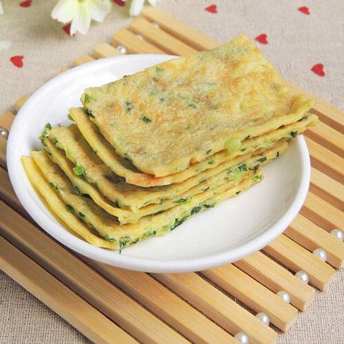 葱香榨菜鸡蛋米饼