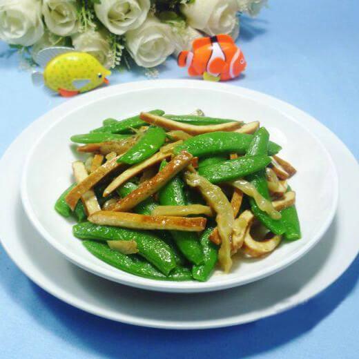 榨菜香干炒甜豆