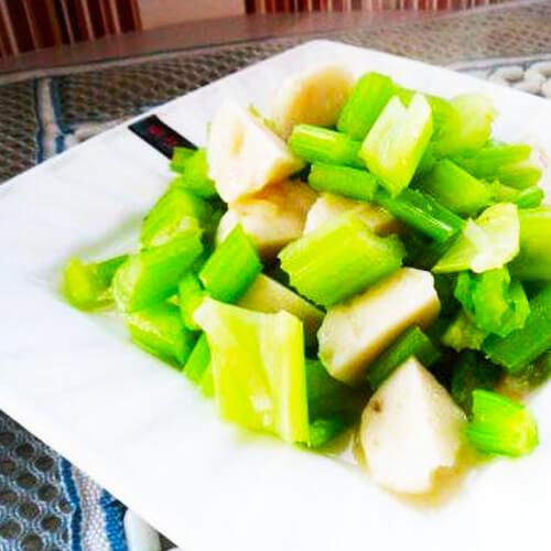 鱼丸烧芹菜