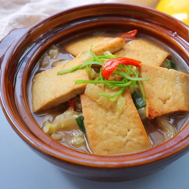自己做的家乡豆腐煲