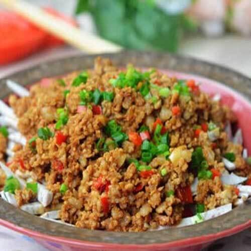 椒香芋丝炒海米