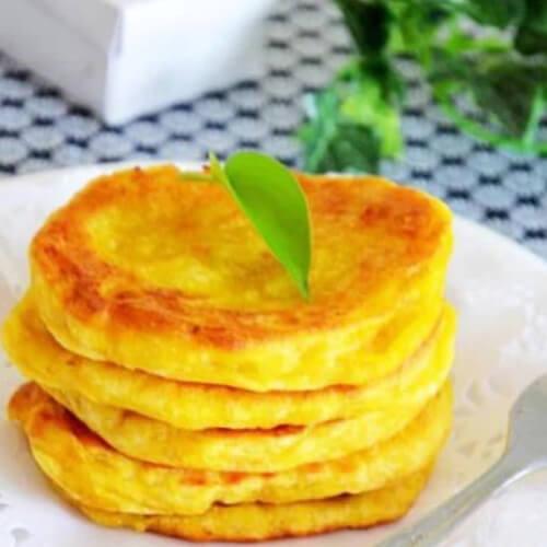 玉米面小发面饼