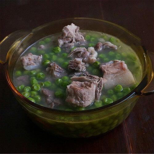 豌豆棒子骨汤(简单版)
