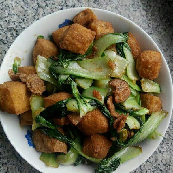 在家做的豆泡炒食蔬