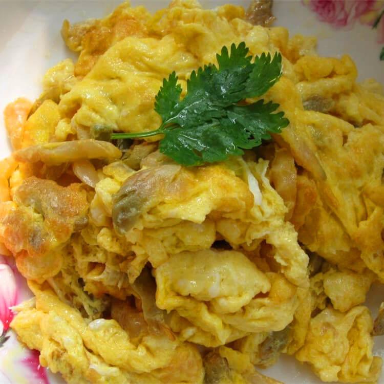 榨菜炒鸡蛋