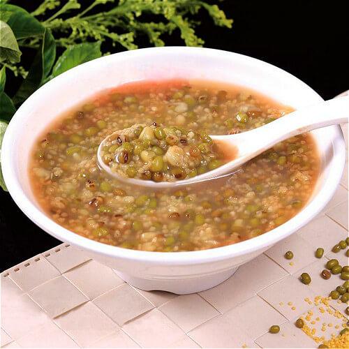 小米绿豆莲藕粥