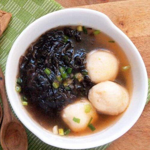 芹香紫菜丸子汤