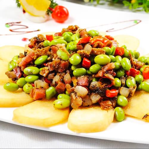 蒜香青豆炒肉末