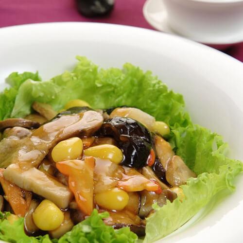 黄瓜片蘑菇炒肉