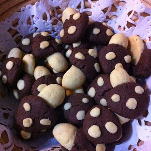 蘑菇香豆饼