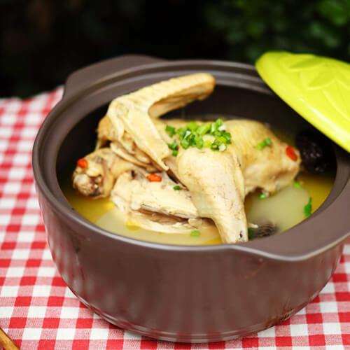 板栗花生鸡汤