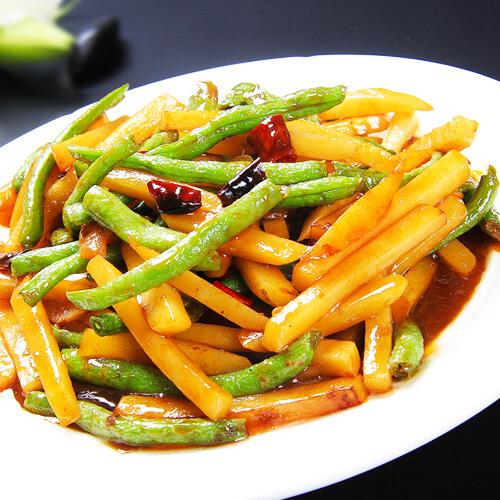 自制刀豆炒土豆