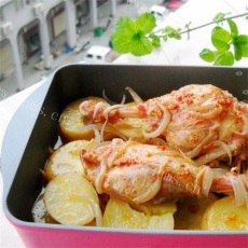葱香土豆烤鸭