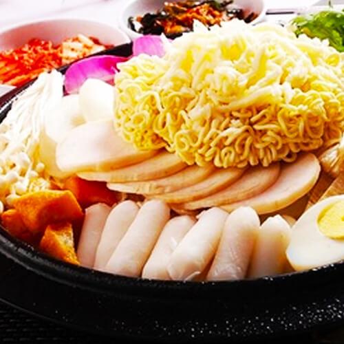 韩式芝士年糕火锅