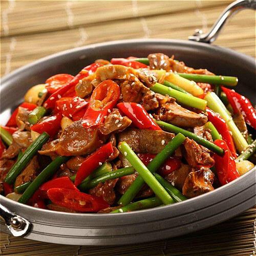 香肠干锅藕片