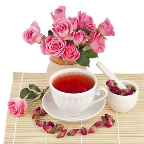 西洋参玫瑰花茶