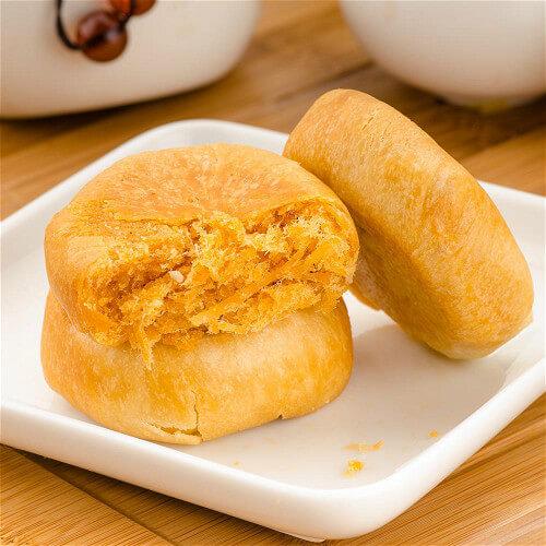 健康的黄瓜肉松酥饼