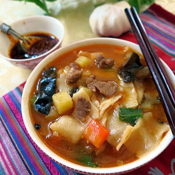榨菜羊肉汤揪面片