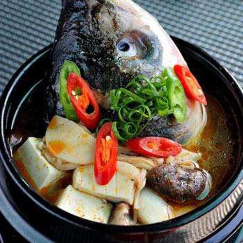 杏鲍菇鱼头汤