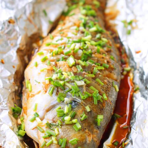 【懒人版】蒜油鲈鱼