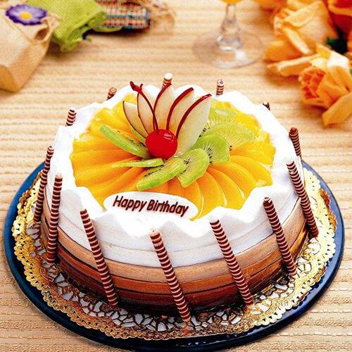 健康的玫瑰花裱花蛋糕