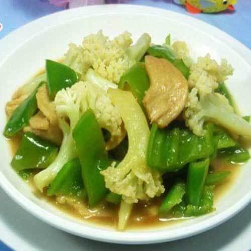 花菜大豆蛋白炒尖椒(简单版)