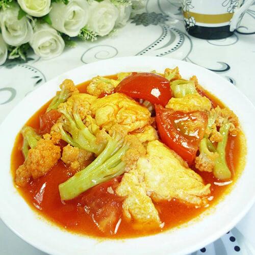 香菇肉末炒花菜