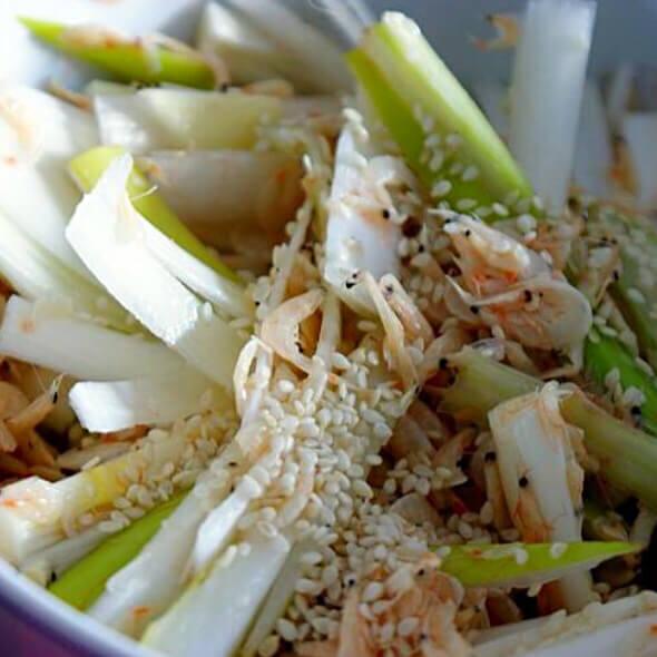 虾皮拌大葱