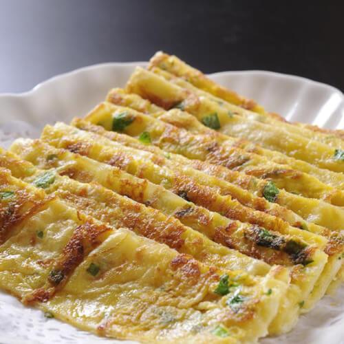 玉米青菜鸡蛋饼