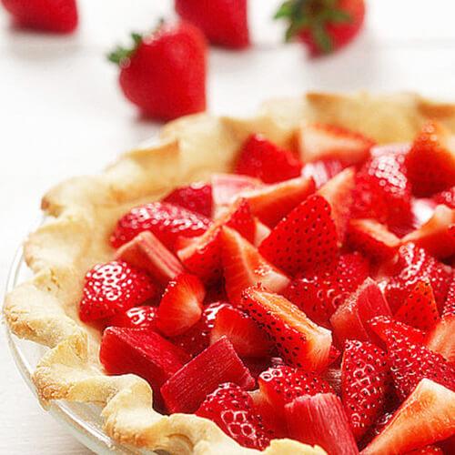 草莓椰蓉派