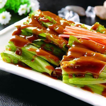 油麦菜炒豆皮