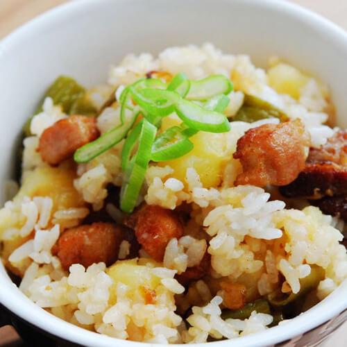 茶树菇牛腩焖饭