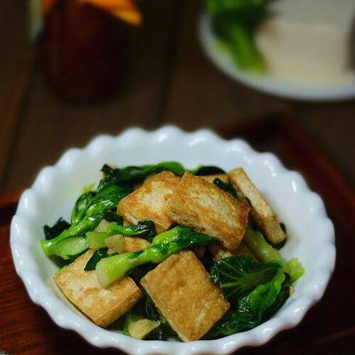 油菜炕豆腐