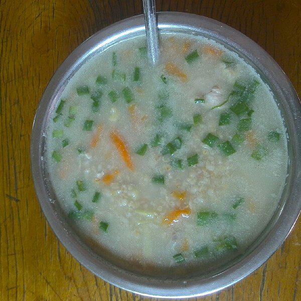 菠菜胡萝卜燕麦粥
