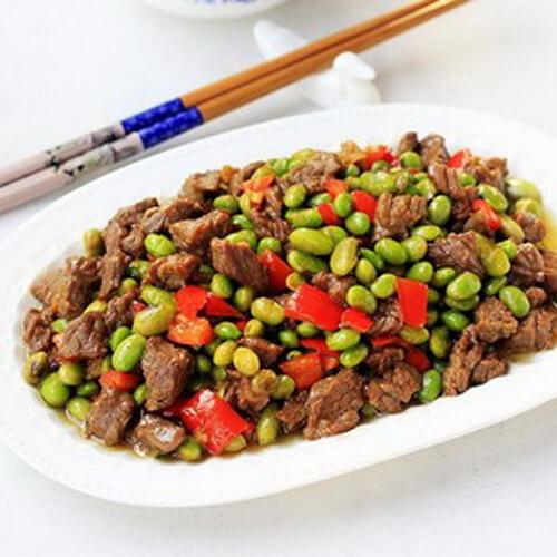 美美厨房之双豆炒牛肉