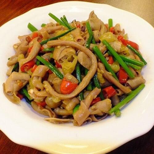 鸭肠炒芹菜