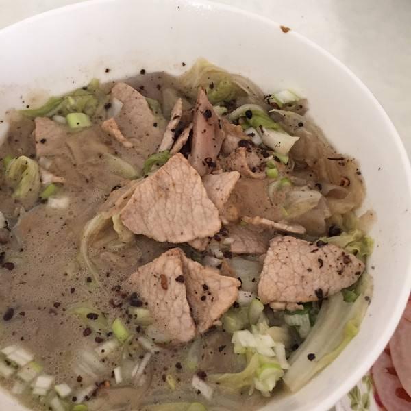 白菜肉片炖粉皮
